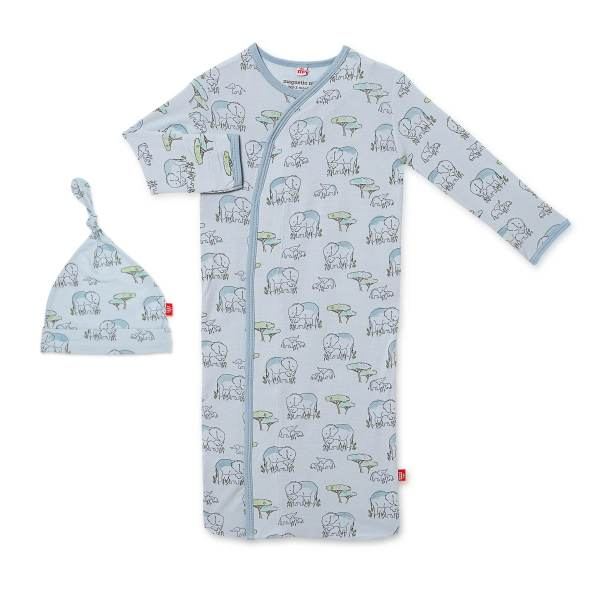 Magnetic Me Blue Love You A Ton Magnetic Sack Gown and Hat Set
