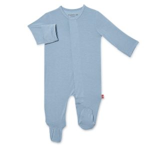 Magnetic Me Cool Blue Solid Footie