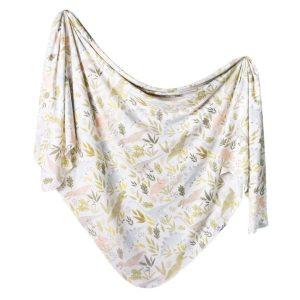 Copper Pearl Rex Knit Swaddle Blanket