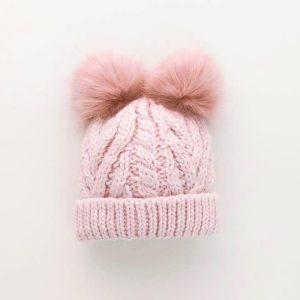 Huggalugs Blush Pink Fluffer Pom Pom Hat