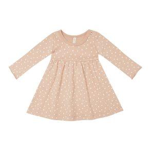 Quincy Mae Petal Dots Jersey Long Sleeve Dress