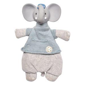 Tikiri Toys Alvin the Elephant - Lovey with Organic Natural Rubber Head