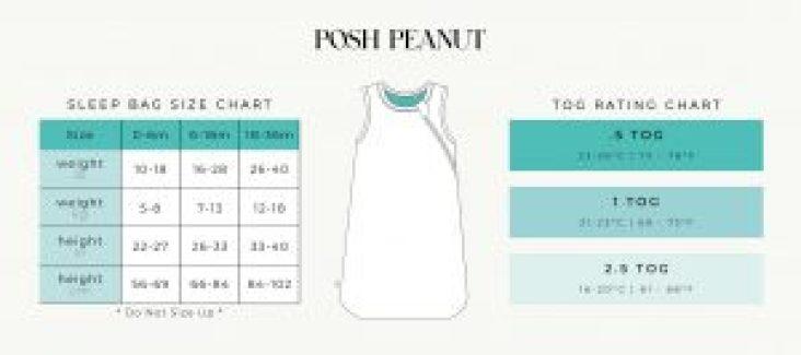 Posh Peanut Sleep Bag Size Chart PeekaBooBaby