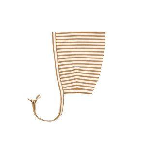 Quincy Mae Walnut Stripe Pixie Bonnet