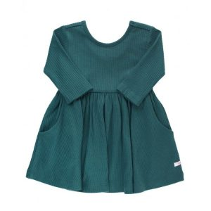 RuffleButts Twilight Ribbed Twirl Dress
