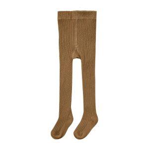 Rylee + Cru Rib Knit Solid Ribbed Tights - Rust