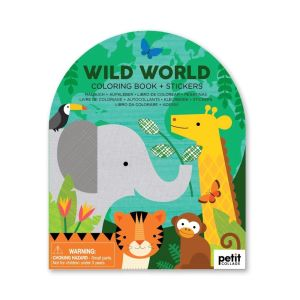 Wild World Coloring Book + Stickers