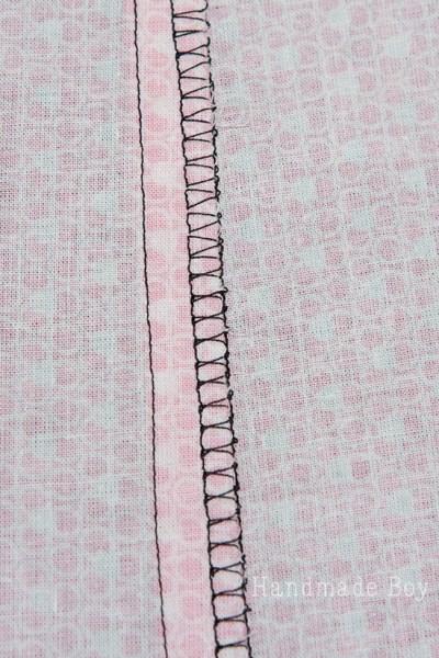 overlock stitch seam finish