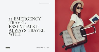 15 Emergency Travel Essentials I Always Travel With
