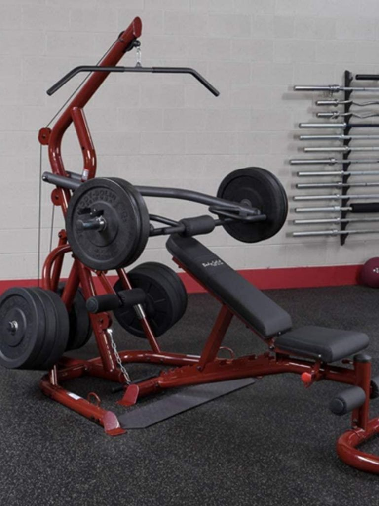 Body-Solid Corner Leverage Gym Package with Bench