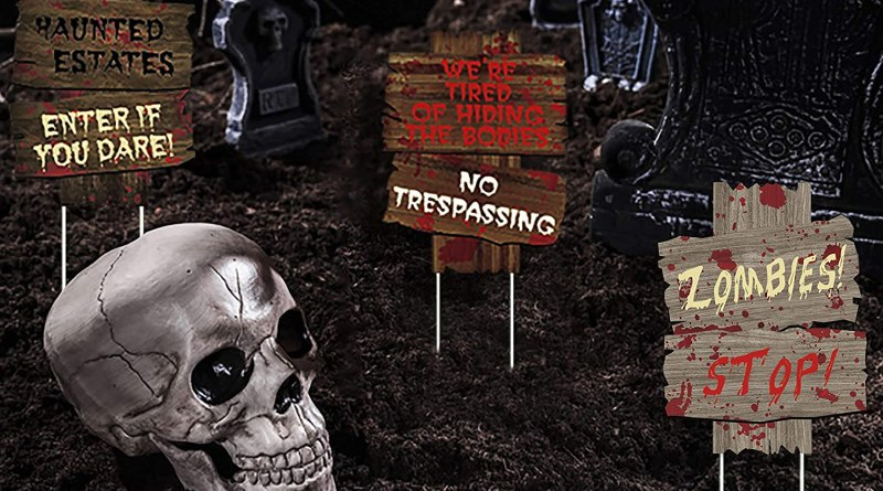 6PCS Halloween Decorations Yard Signs