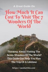costs of seeing the natural wonder of the world