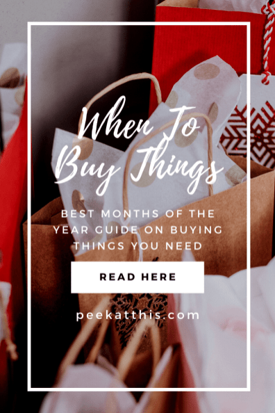 BEST TIME OF THE YEAR TO BUY THINGS – 2020