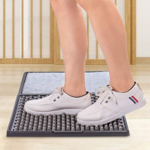 TMOUNT Disinfect Front Door Mat, Sanitizing Footbath Mat&Shoe Soles Disinfecting Floor Mats,Automatic Sole Cleaning Household Foot Pads for Home