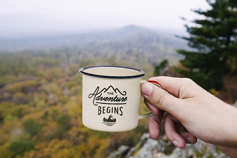 Camping Enamel Travel Mug