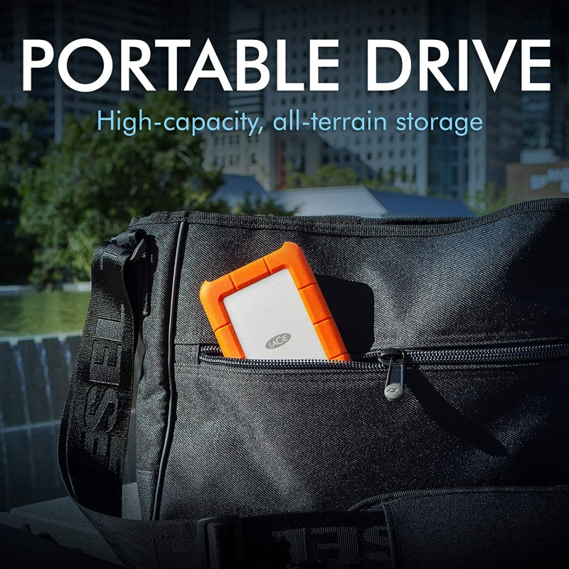 LaCie Rugged USB-C 2TB External Hard Drive Portable HDD – USB 3.0 compatible, Drop Shock Dust Rain Resistant, for Mac and PC Computer Desktop Workstation Laptop, 1 Month Adobe CC (STFR2000800) Brand: LaCie
