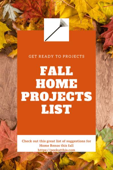 Fall Home Maintenance Projects List