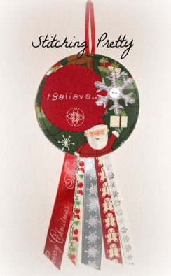 """""""I Believe"""" Hanging Rosette by Stitching Pretty €10http://on.fb.me/1T9Osnx"""