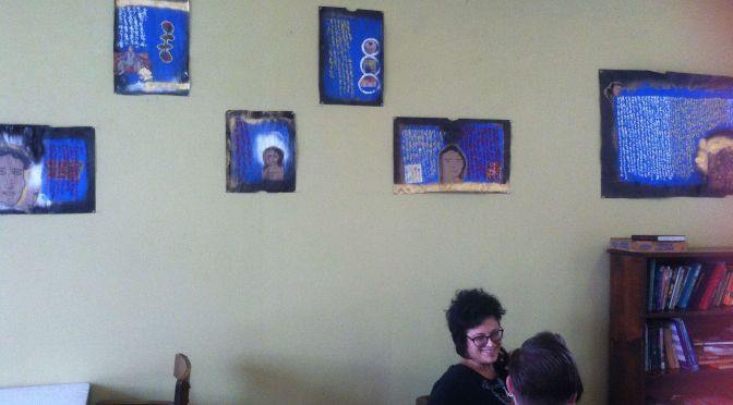 Last weekend to see Sydnee Farr's paintings and photos at the Peekskill Coffee House