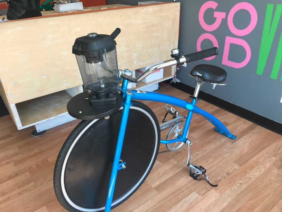 PK Juice Blender bike close up