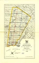 Peel County road map, 1932, Wm. Perkins Bull fonds