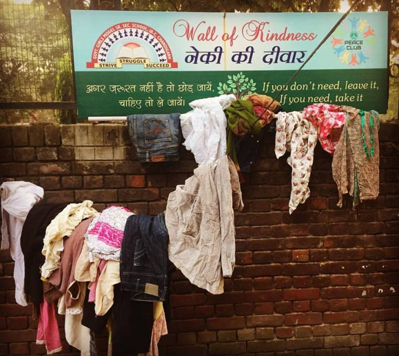 wall of kindness chandigarh