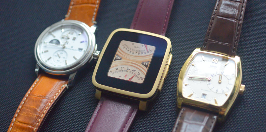 Pebble Time Steel Gold 買ってみた