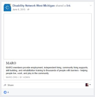 Disability Network West Michigan (Muskegon, MI) shared a link to MARO.org – the website for Michigan's association of sheltered workshops, of which they are a proud member to this day.