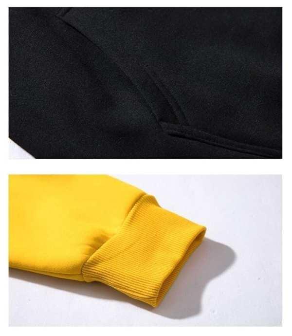 Sweat à capuche classique bi couleur pour hommes