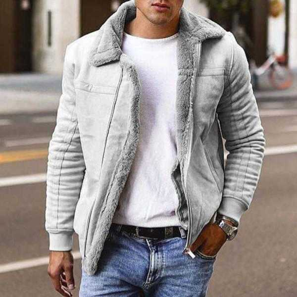 Men's Fur Bomber Coat - Air Force Pilot Style Jacket