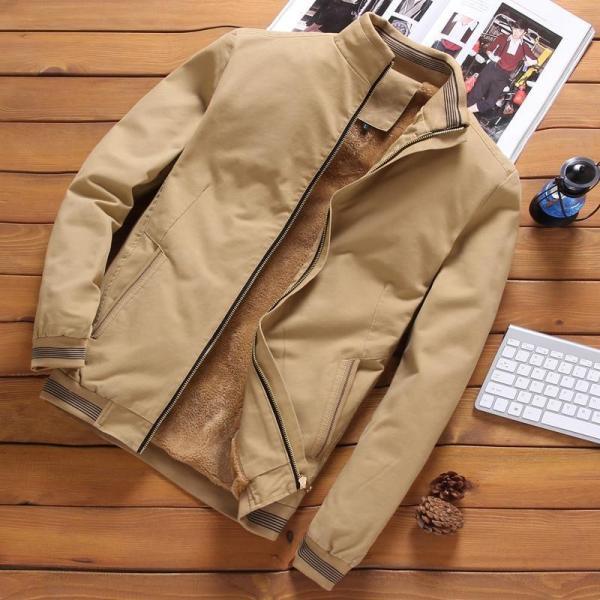 Bomber casual jacket man high collar