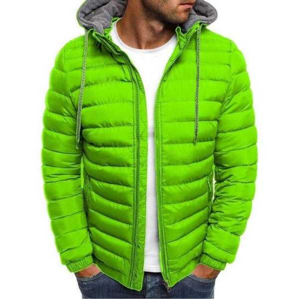 Casual light jacket for men - Warm hooded windbreaker coat