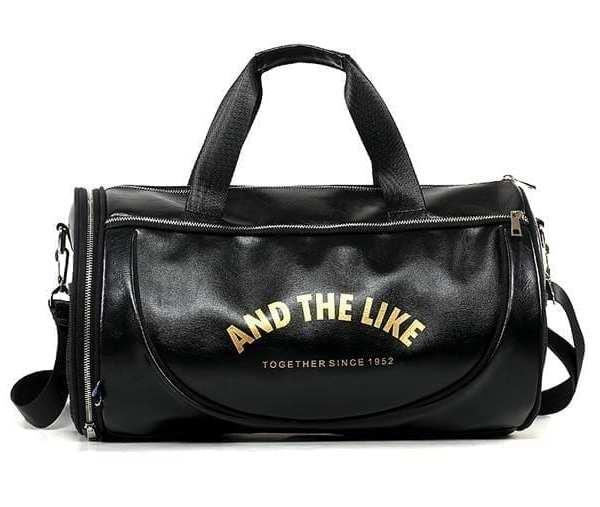 Multifunction sport travel shoulder bag for vintage style men