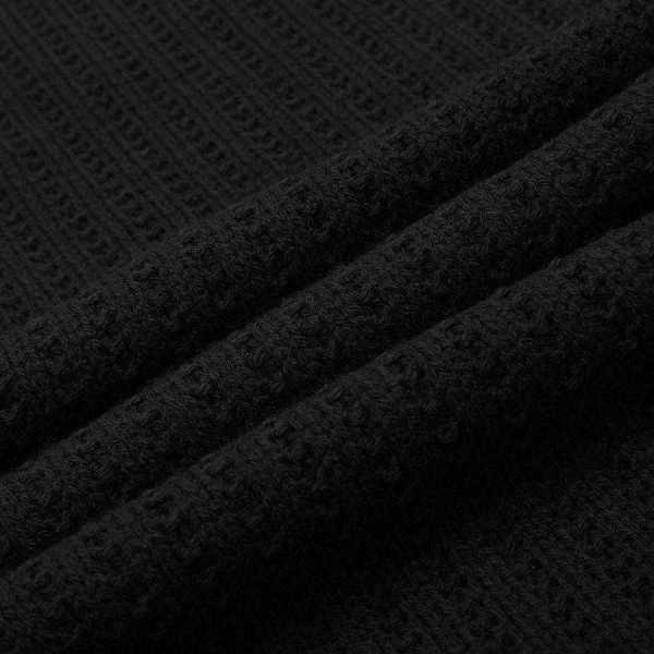 Suéter de punto para hombre con lana mixta, diseño moderno de cuello redondo