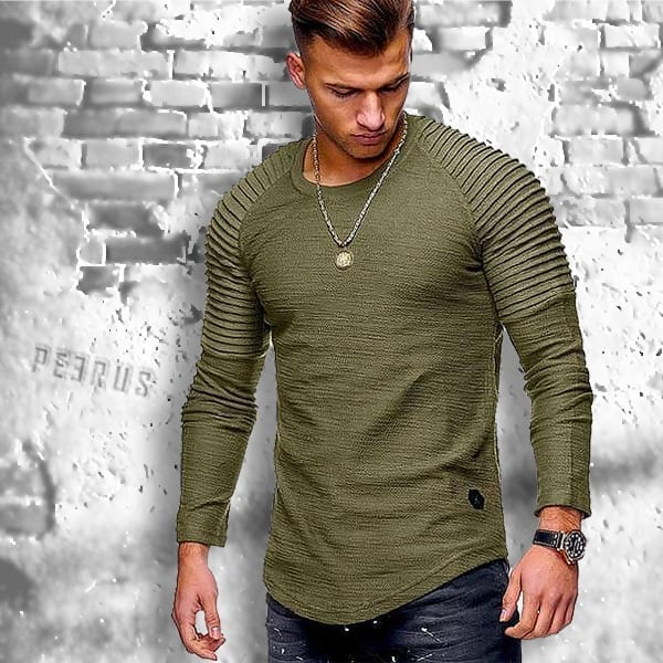 Camiseta casual de fibra de bambú de manga larga