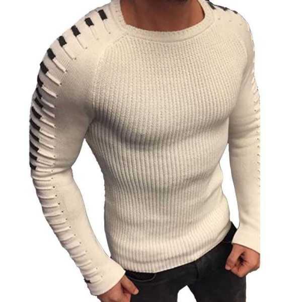 Pull en laine tricoté style slim tendance pour homme