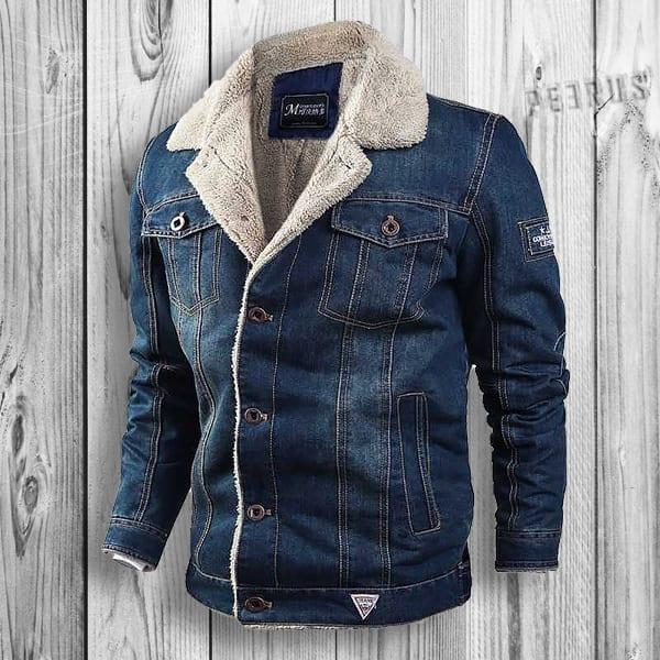 Cowboy-style hot denim jeans coat for men