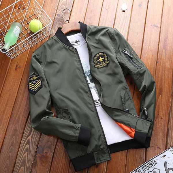 Light jacket for men's classic aviator style