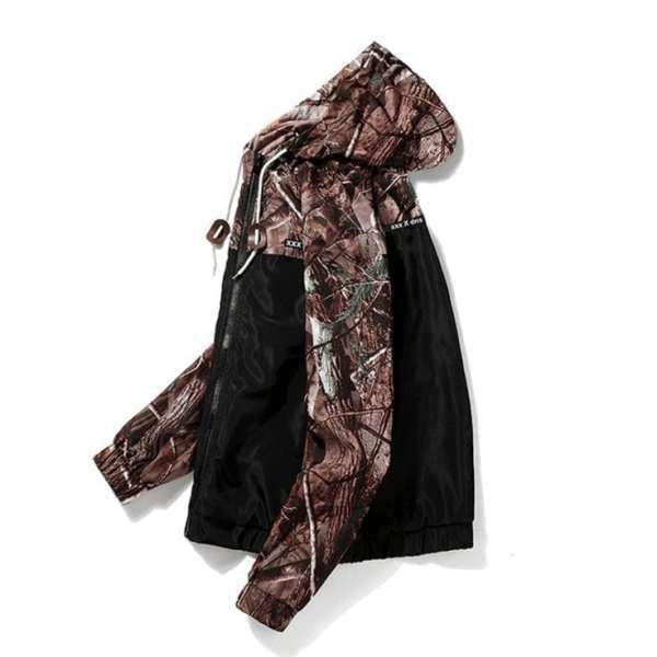 Coupe-vent veste légère motifs jungle camouflage pour homme