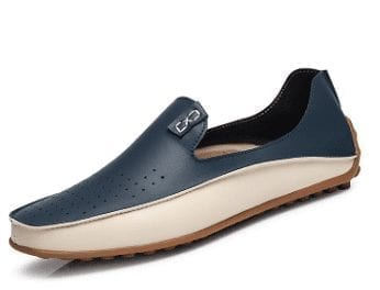 Men's breathable modern leather design summer shoes