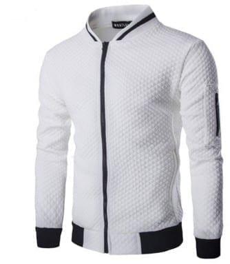 Men's lightweight plaid mid-season jacket