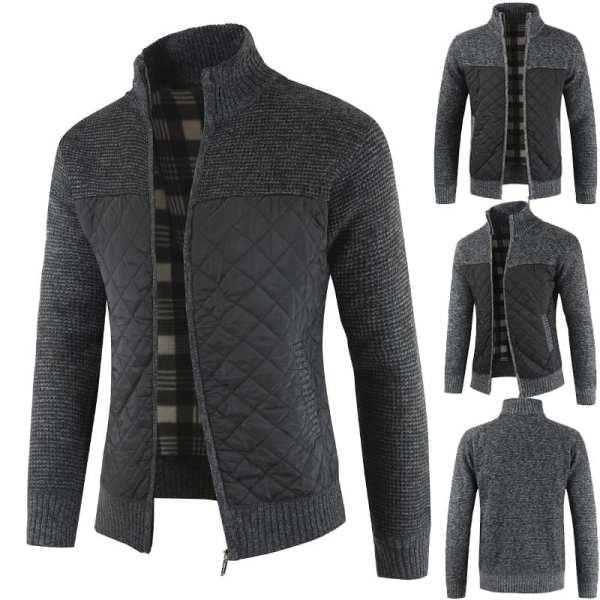 Veste style cardigan velours tricoté homme