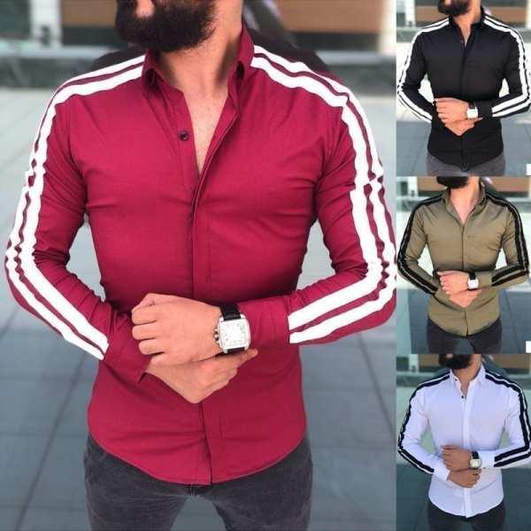 Camisa de cárdigan de manga larga