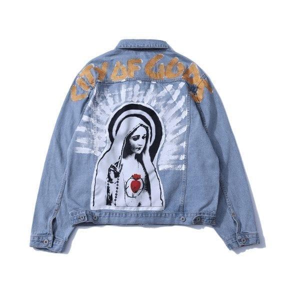 Saint paint denim jacket for men