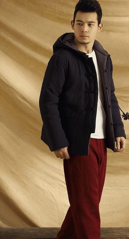 Abrigo caliente de diseño de algodón moderno para hombre