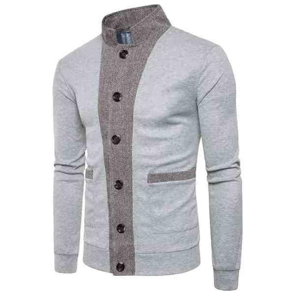 Veste casual style sweater tricoté pour hommes