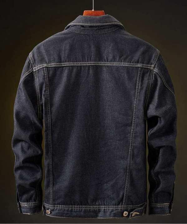 Men's velvet denim jacket