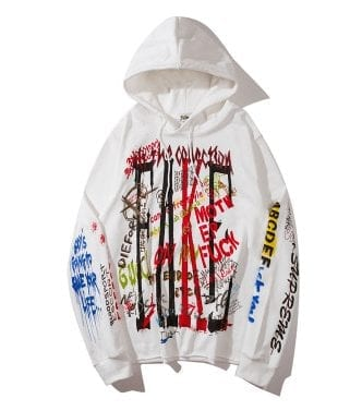 Adultly oversized hip hop hoodie for men