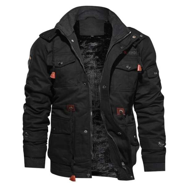 Men's military-style polar jacket