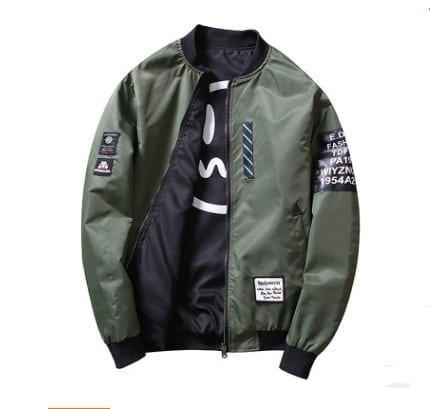 Chaqueta bomber de moda para hombres